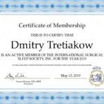 Certyfikat - Dmitry Tretiakow